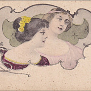 Art Nouveau French Tuck's Postcard c1900.