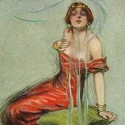 Lou Mayer 'The Wine of Incence' American Postcard.