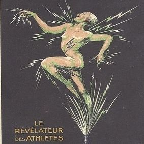 Rare Art Deco Advertising Postcard 'L'Embrocation Chanteclair' c1920