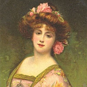 Antique French Cosmetic Advertising Postcard 'Creme Simon' c1900.