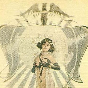 Twentieth Century re-issue  of 19th Century Risque French  Postcard