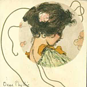 Original French Kirchner 'Incense' Postcard 1902. - Red Tag Sale Item