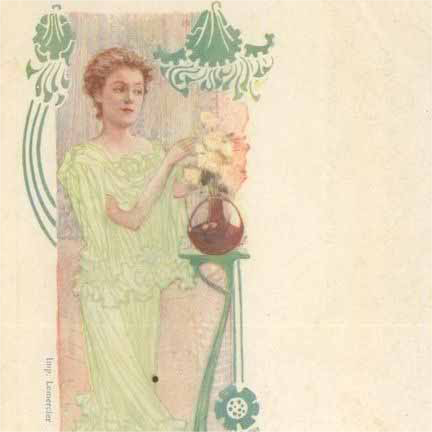 French  Yvette Guilbert Theatre Advertising Postcard c1900.