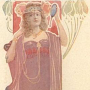 French Theatre Advertising Postcard Madam Sorel c1900.