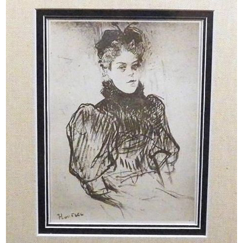 Toulouse-Lautrec Signed 'May Milton' Engraving 1920.
