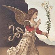 'Annunciation Angel ' Italian  Museum Postcard