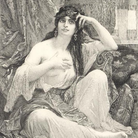Victorian  American Engraving 'The Sulamite' c1888.