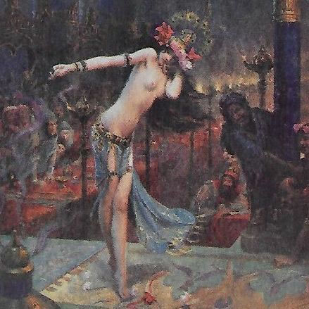 SALE: French Signed 'Salome' Salon de Paris Artist Postcard