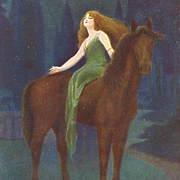 Art Nouveau German Forest Fairy 'Waldfee' Postcard