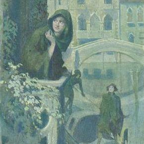 Austrian Composer Schumann Venice Song Postcard.