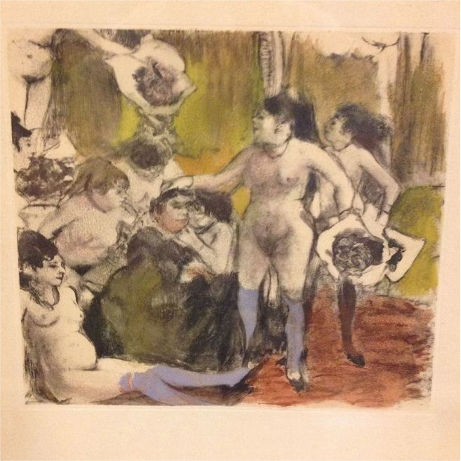 Edgar Degas Limited Edition 422/500 French Monotype Etching La Fete de la Patronnne 1948.