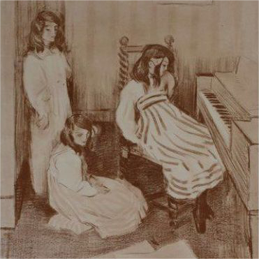 Original Signed French Lithograph 'Bouderie' 1898 Limited Edition L'Estampe Moderne series.