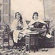 On HOLD for Melissa: Rare Moroccan issue 'Harem' REal Photo Postcard c1900.