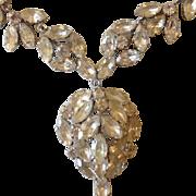 Divine Sparkling White Rhinestone Festoon Necklace c1930.