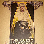 SALE: Original French Limited Ed. Art Nouveau Signed Lithograph 'Quest for the Golden Girl' Les Maitres de L'Affiche series 1896