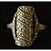 Art Deco Sterling and Marcasite Ring.