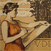 Original Signed Art Nouveau French Lithograph 'VDBKiB' 1897