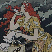 Original French Lithograph 'Encre L. Marquet' from Les Affiches Illustrees series 1896 Rare.