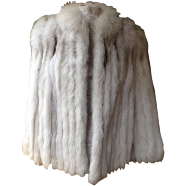 Finland Natural Blue Fox Fur Jacket