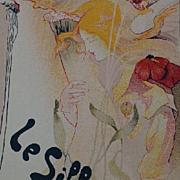 'Le Sillon' Original French Les Maitres de L'Affiche Lithograph Art Nouveau era 1897..Stunning