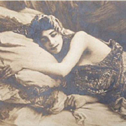 French Orientalist Harem Real Photo Postcard 'La Sieste' 1910