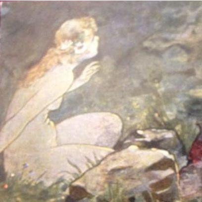 'Mermaid' German Postcard c1900