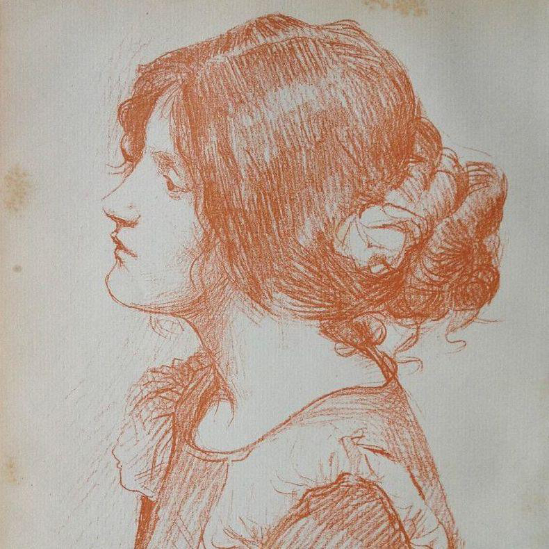 Signed Waterhouse Original Engraving from Studio Magazine Vol. 6 1896..