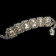Vintage Motif Link Bracelet