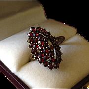 Bohemian Garnet Dress Ring