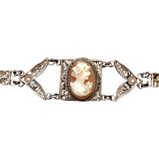 Cannetile Wirework and Filigree Cameo Bracelet
