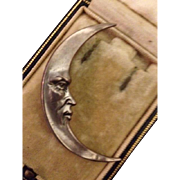 Man in the Moon Brooch Arts and Crafts era.