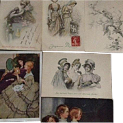 Group of 6 Antique Vienne Christmas/New Years Postcards..Special Price.