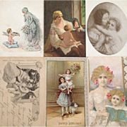 Group of 6 Antique Mother and Child Postcards: Special Price