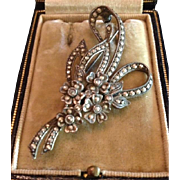 Art Deco Floral Bouquet Marcasite Brooch Pin c1935