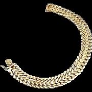 14 Karat Yellow Gold Wide Cuban-Mesh Bangle Bracelet