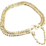 22 Karat Yellow Gold Link Chain Bracelet Bangle