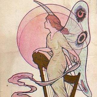 Saint Patrick's Day Fairy New York Postcard 1915.