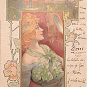 German Art Nouveau 'Morgen' Postcard c1900.