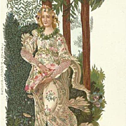 Italian Boticelli Primavera Art Nouveu Postcard c1900
