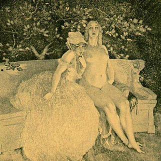 Vintage Book Plate 'Eve' by Norman Lindsay