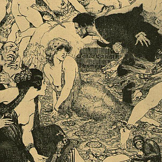 Norman Lindsay Bookplate 'Recognition' 1977