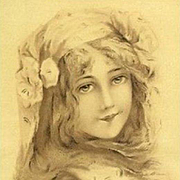 Art Nouveau French Issue Vienne Postcard c1900