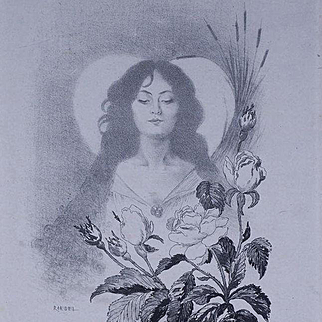 Original Signed Art Nouveau French Engraving c1900 by Roedel..Rare.