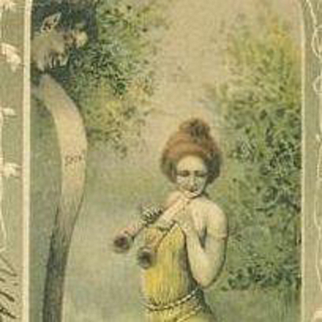 Spanish Art Nouveau Woman with Snake and Fyfe Embossed Postcard 1902.