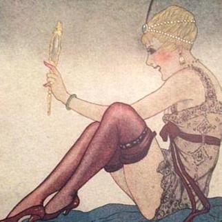 Signed Lorenzi Art Deco 'Le Mirroir' Rare French Postcard c1917