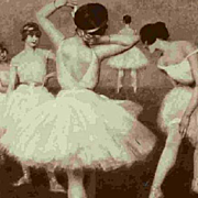 Russian Ballet Dancers Salon de Paris Vintage Postcard