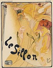 On Hold Lay-away for Carol: Original Art Nouveau  French Art Nouveau Lithograph 'Le Sillon' by Toussaint 1896 from Les Affiches Etrangeres series.
