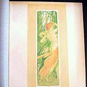 Original Signed French Lithograph 'Renouveau' L'Estampe Moderne Art Nouveau 1897.