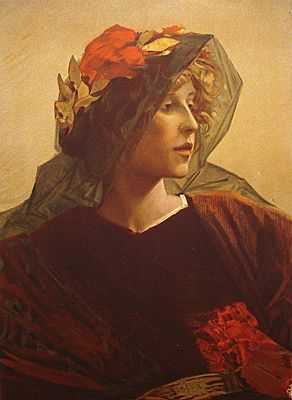On HOLD for Cathy:Extremely Rare Original French  L'Estampe Moderne Lithograph 'Imperia' 1897.