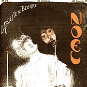 Rare Complete Signed Art Nouveau French Lithograph Magazine~L'Assiette au Beurre: 'Noel'~1901 Christmas edition.